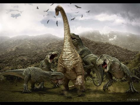 how to a to attack brontosaurus tyrannosaurus attack wallpapers and images wallpapers pictures photos