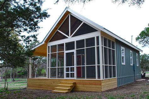 Small House Plans With Screened Porch by Modern Cabin Tiny House Swoon