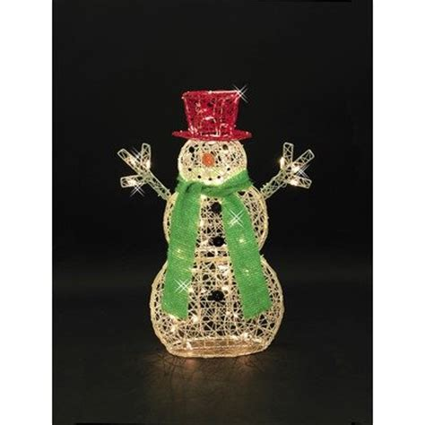 lighted lawn decorations how to 32 inch lighted snowman lawn decoration