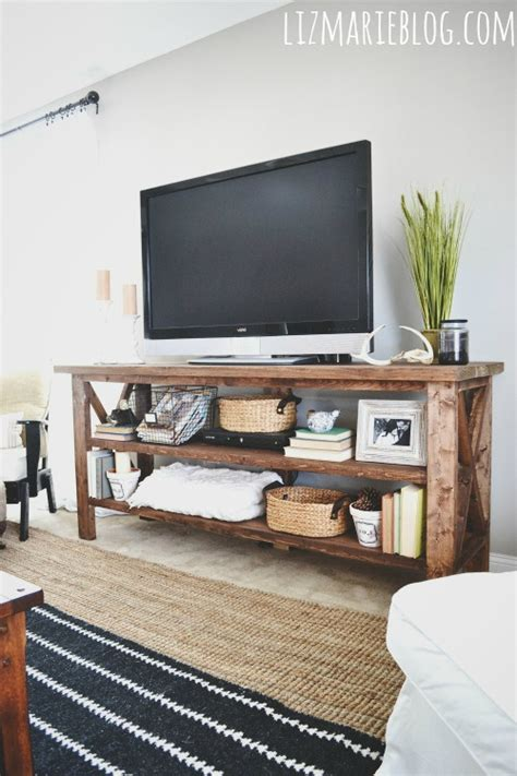 diy rustic tv console hometalk