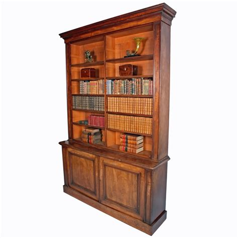 Library Bookcase Antique Library Bookcase Mahogany Open Bookcase