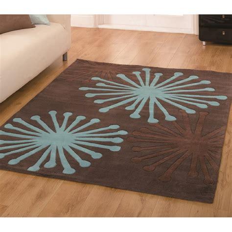 chocolate and teal rug brown blue infinite rug carpet runners uk
