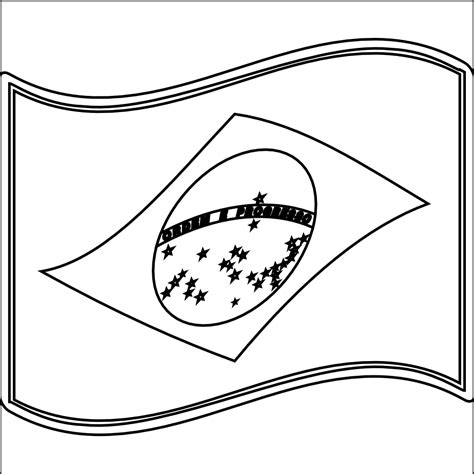 brazil flag coloring page az coloring pages