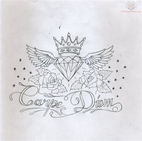 carpe diem tattoo design images designs
