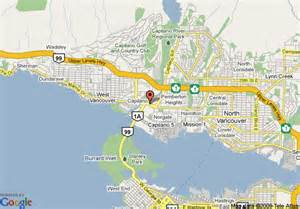 map of vancouver lions gate travelodge west vancouver