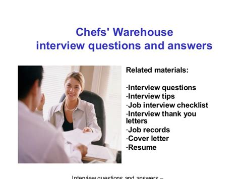 chefs warehouse questions and answers
