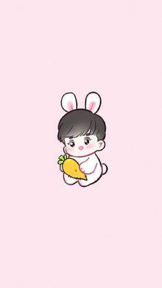 exo chibi iphone wallpaper suho wallpaper exo suho joonmyeon exo rabbit exo