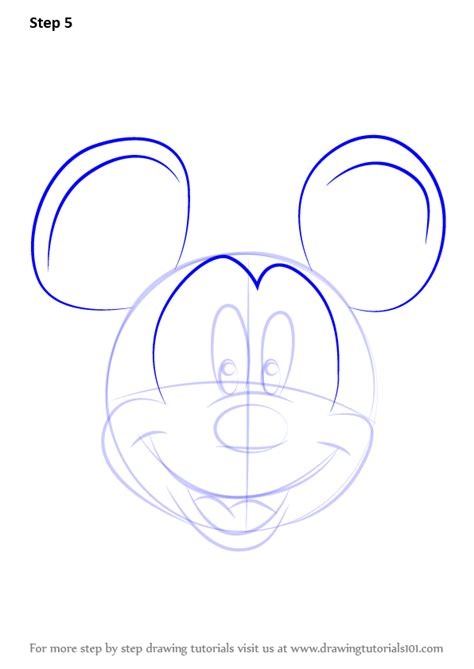 learn how to draw mickey mouse step by step easy drawing learn how to draw mickey mouse face from mickey mouse