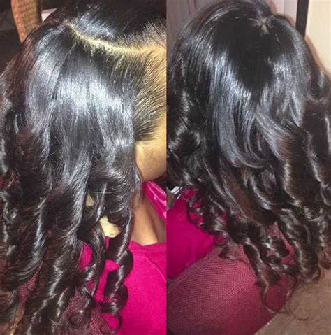 sew in weaves with bangs braid pattern for sew in weave with side bangs