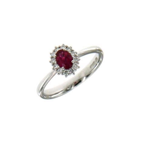 anello fiore diamanti anello fiore in oro bianco con rubino e diamanti