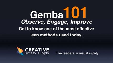 Ge Mba by Gemba 101 The Gemba Walk