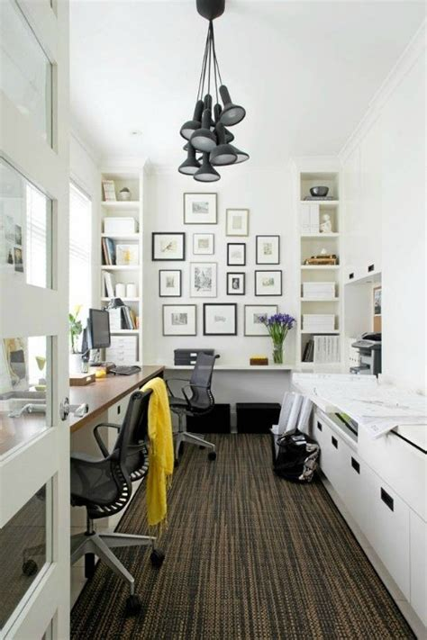 narrow home office let s build a home pinterest