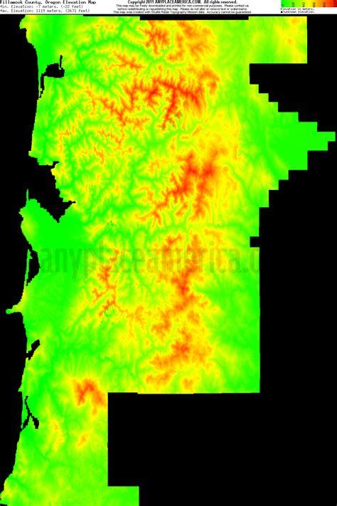 map of oregon elevation free tillamook county oregon topo maps elevations