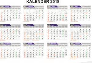 Kalender 2018 Lengkap Hari Libur Template Penanggalan Kalender 2018