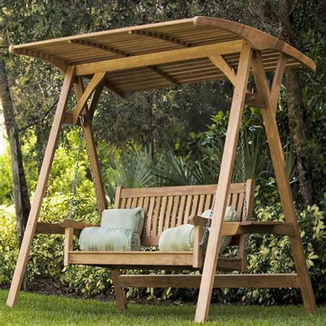swinging patio bench 1000 ideas about bench swing on porch swings