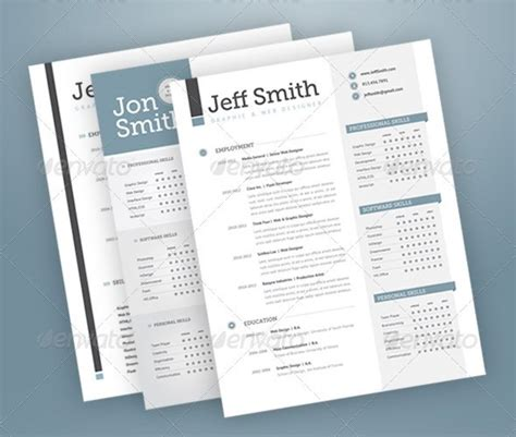 Stylish Resume Templates by 37 Stylish Resume Templates Pixelpush Design