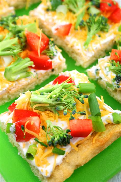 Come With Me Baby Shower Menu Appetizers by Cold Veggie Pizza Appetizer Baking