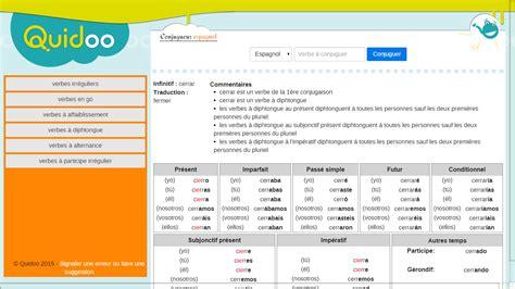 la conjugaison espagnole conjugaison espagnole au coll 232 ge