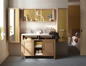 meuble salle de bain bois clair mzaol
