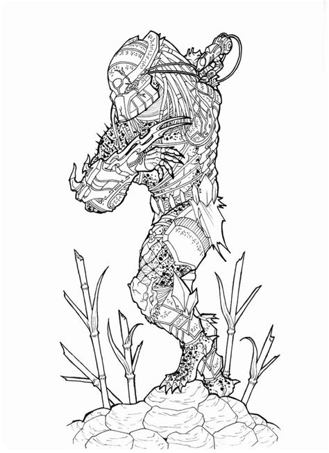 berserker predator coloring pages coloring pages