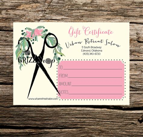 haircut coupons delaware ohio set of 50 salon gift certificates