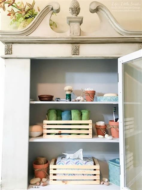 bathroom open shelves tips to organize bathroom open shelves scotch brite
