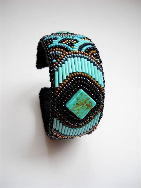 bead embroidery bracelets precious heartbeads igazgy 246 ngy 246 k mayan kaleidoscope