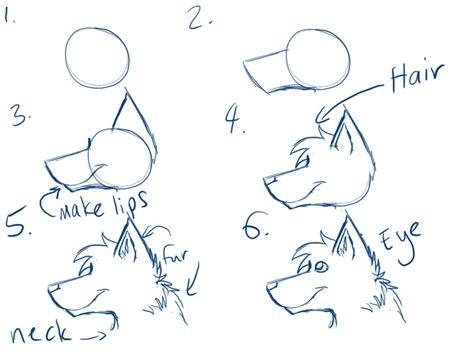 werewolf head tutorial wolf face drawing tutorial www pixshark com images