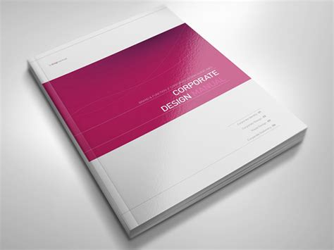 guide book layout corporate design manual guide 28 pages on behance