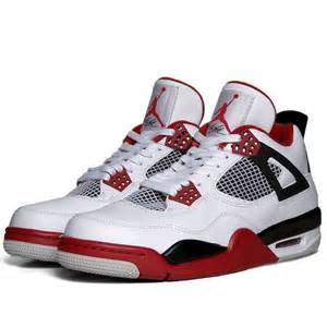 Nike air jordan iv retro white varsity red amp black