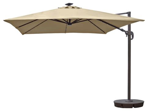 Blue Wave Products Santorini Ii Fiesta 10 Square Square Cantilever Patio Umbrella