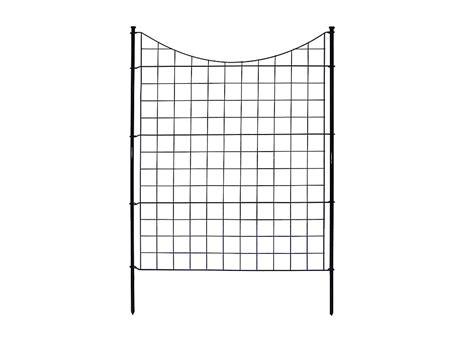 zippity outdoor semi permanent black metal garden fence