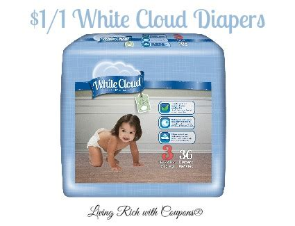white cloud diaper printable coupons white cloud coupon 1 00 off 1 bag or box of white
