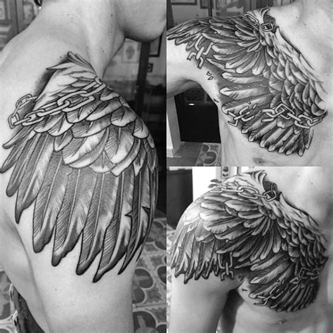 broken wing tattoo top 100 best wing tattoos for designs that elevate