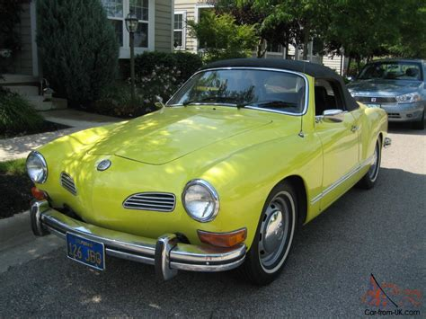 karmann ghia 1973 1973 vw karmann ghia convertible one owner california