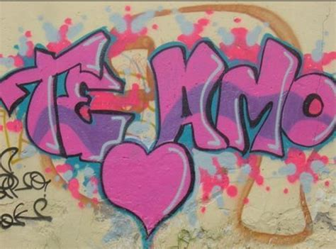 graffitis de te amo arte  graffiti