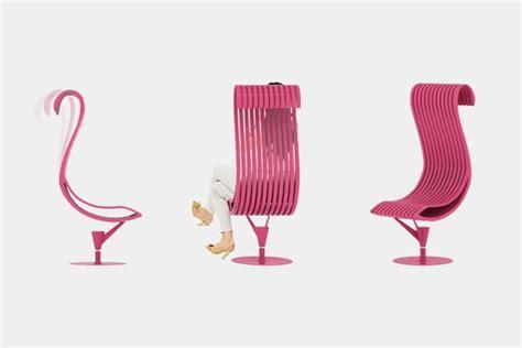 Unique Desk Ideas unique chair that mimics flamingo s shape flamingo chair