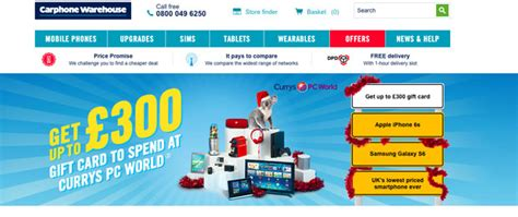 Carphone Warehouse Gift Card - iphone 6s deals get 163 100 off latest apple handset daily star