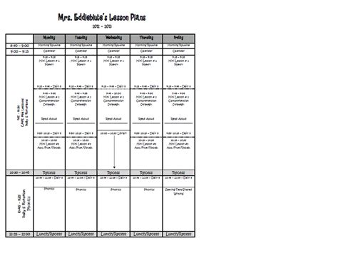 6 week lesson plan template spotted in grade how do you plan and tons of