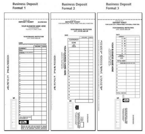 checking deposit slip template manual deposit slips for business personal