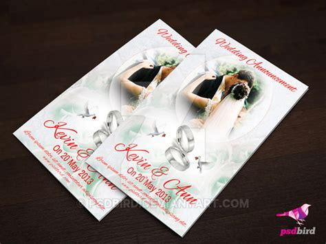free wedding card templates psd free wedding invitation card psd by psdbird on deviantart