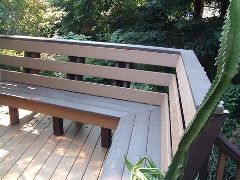 deck railing with bench seating no outdoor living environment is complete without some