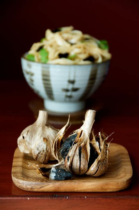 Dian Black Garlic black garlic noodles umami blast white on rice