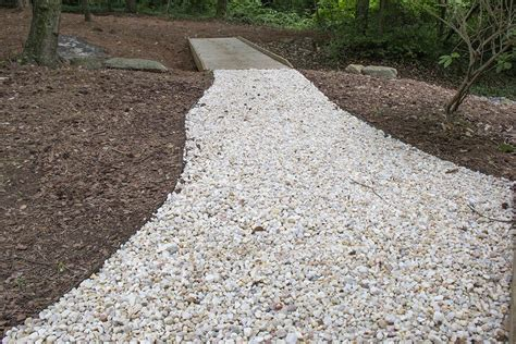 pebbles for backyard top 28 pebble walkway mesmerizing white pebble