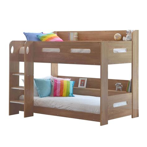 oak bunk bed sky bunk bed in oak ladder can be fitted either side