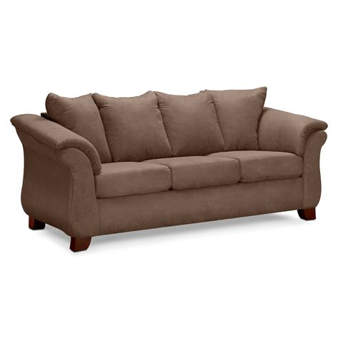 couches sofa adrian taupe sofa value city furniture
