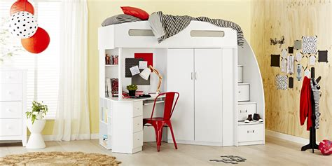 Octavia Study Desk And Storage Bunk Dimensions W X L X H Forty Winks Bunk Bed
