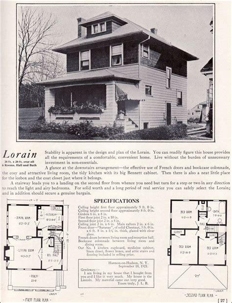 prairie box house plans foursquare prairie box 1922 lorain by bennett homes kit houses proekt house