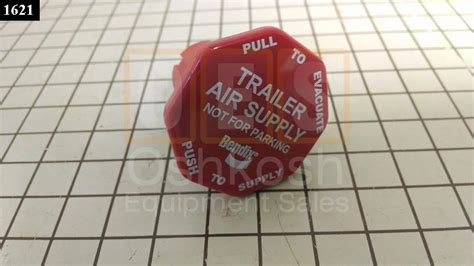 Trailer Air Supply Knob by Trailer Air Supply Knob Bendix Style Oshkosh Equipment