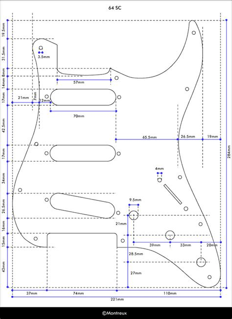 stratocaster pickguards template images